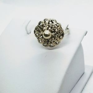 Old Vintage pre-owned condition-Ring Silver 925